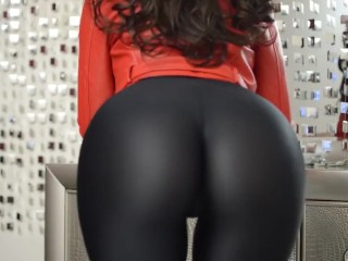 Karina - yam-sized butt On Leather trousers [LiveJasmin Babes]