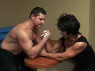 "Latia Armwrestles ""The Greek"""
