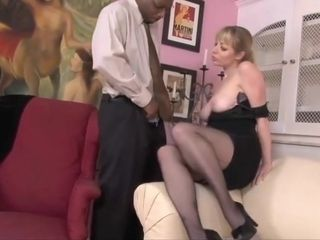 Exclusive cougar with massive knockers receiving a massive black cock
