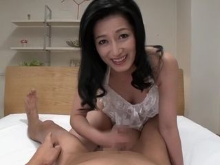 Epic asian nymph in finest hand-job, point of view JAV movie