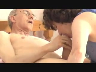 Granddad s enormous salami infatuating mature - morning oral pleasure