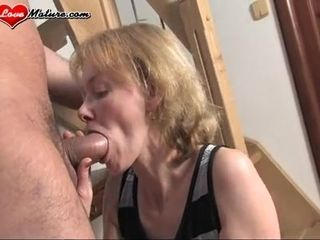 Inexperienced grandma devours Such ample stiff penis For A first-ever Time