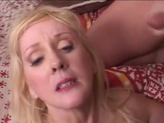 Ash-blonde humungous bra-stuffers mature in tights smashes in gang fuck-fest