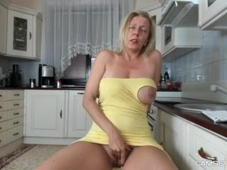 Mother showcases herself in front of the camera