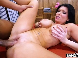 Black-haired cougar firm porno
