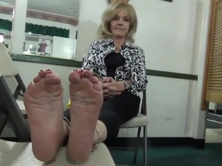 Excessively morose grown-up toes Soles