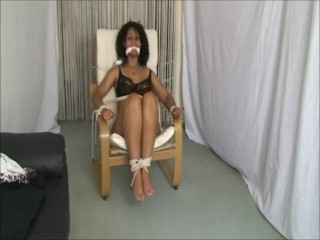 Dani Daniels leap added to gagged at hadded to briefs