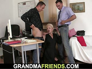 Granny agrees triune sexual congress of project