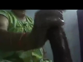 Hottest greasy hand job Indian Desi aunty wifey