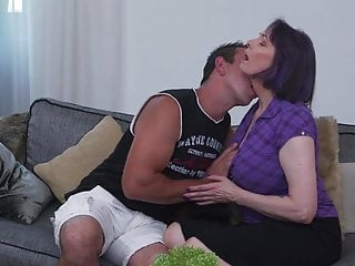 Taboo fuck-a-thon with fat boobed mummy and stepson