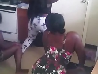 Moonless Girls Twerking Their Booties