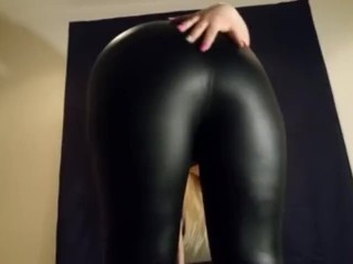 Point of view German ass leather smack taunt