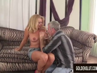 Warm to Trot Mature light-haired Crystal Taylor deepthroats rod and Gets smashed