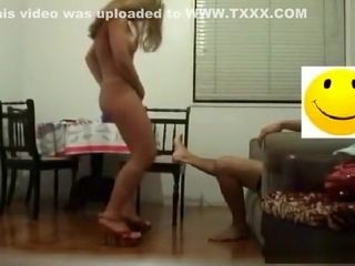 Ash-blonde wifey railing the man meat