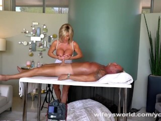 Beamy knockers MILF rub down together with Cum Facial
