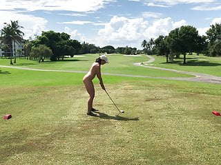 My wifey plays golf 1 - public course