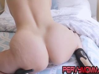 Naughty cougar point of view railing wood