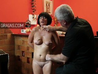Mature cougar victim instructed